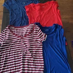 Lot of 4 size medium shirts- Merona & Mossimo